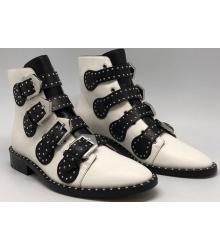 Ботинки женские Givenchy (Живанши) кожаные White/Black