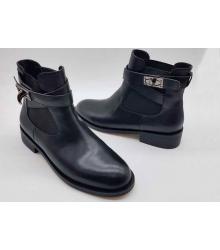 Женские полусапоги Givenchy (Живанши) на небольшом каблуке с резинкой Black