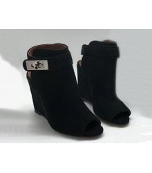 Ботильоны женские Givenchy (Живанши) замшевые Black