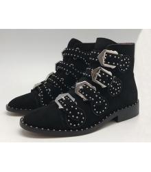 Ботинки женские Givenchy (Живанши) замшевые Black