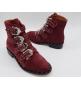 Женские ботинки Givenchy (Живанши) замшевые Bordo