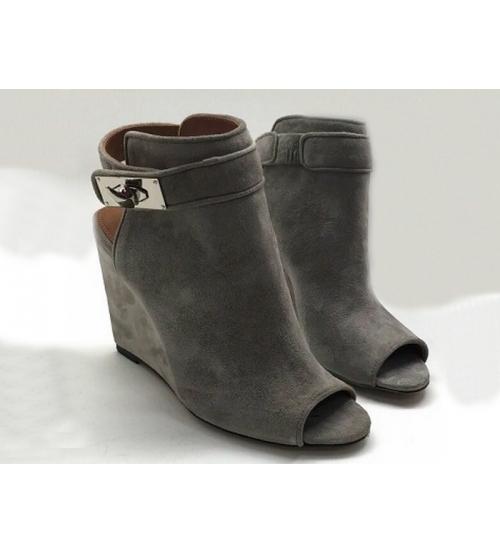 Ботильоны женские Givenchy (Живанши) замшевые Grey