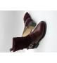 Женские ботинки Givenchy (Живанши) зимние кожа с замшей Bordo