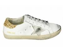 Кеды Golden Goose (Золотой Гусь) Deluxe Brand Gold/White