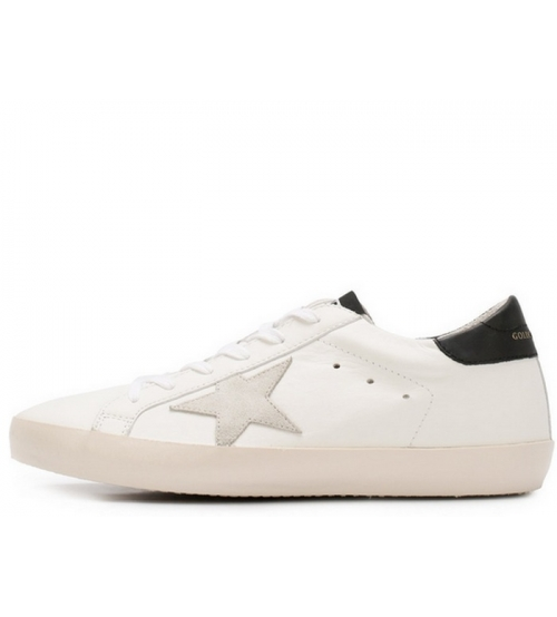 Женские кеды Golden Goose (Золотой Гусь) Deluxe Brand кожаные White/Black