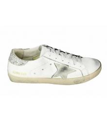 Кеды Golden Goose (Золотой Гусь) Deluxe Brand Silver/White