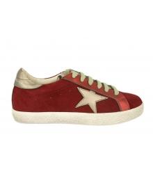 Кеды женские Golden Goose (Золотой Гусь) Deluxe Brand со звездой Red