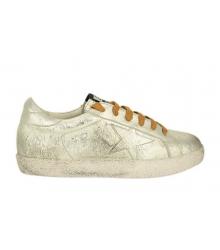Кеды женские Golden Goose (Золотой Гусь) Deluxe Brand со звездой Silver