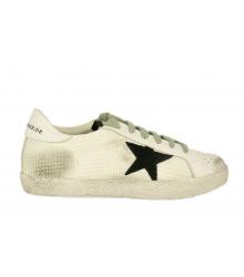 Кеды женские Golden Goose (Золотой Гусь) Deluxe Brand со звездой White/Black