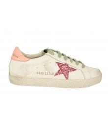 Кеды женские Golden Goose (Золотой Гусь) Deluxe Brand со звездой White/Pink