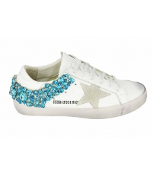 Кеды Golden Goose (Золотой Гусь) Deluxe Brand Star Blue Light