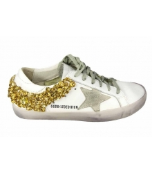 Кеды Golden Goose (Золотой Гусь) Deluxe Brand Star White/Gold