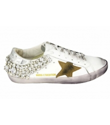 Кеды Golden Goose (Золотой Гусь) Deluxe Brand Star White/Silver
