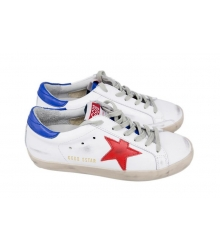 Женские кроссовки Golden Goose Deluxe Brand Blue Star/White