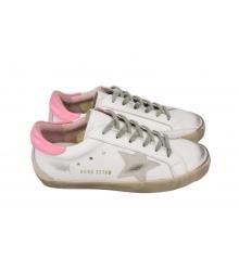 Кеды женские Golden Goose (Золотой Гусь) Deluxe Brand White/Pink