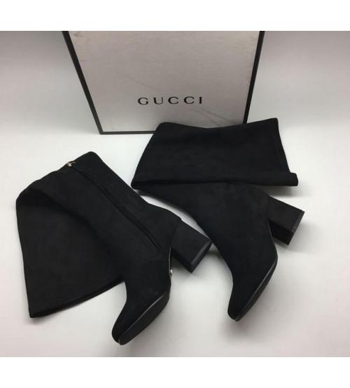 Ботфорты женские Gucci (Гуччи) Black