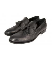 Лоферы мужские Gucci (Гуччи) Black Leather