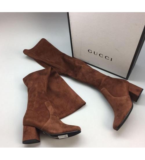 Ботфорты женские Gucci (Гуччи) Brown