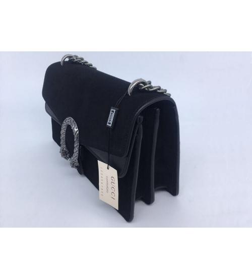 Женская сумка Gucci (Гуччи) Dionysus кожаная Black