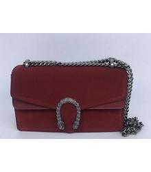 Женская сумка Gucci (Гуччи) Dionysus кожаная Bordo
