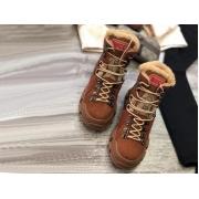 Зимние ботинки женские Gucci (Гуччи) Flashtrek high-top кожаные на шнурках Brown