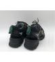 Женские кроссовки Gucci (Гуччи) Flashtrek LUX кожаные на шнурках высокая подошва Black