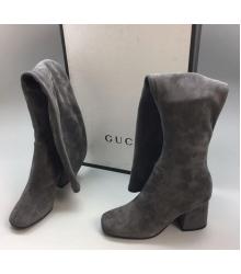 Ботфорты женские Gucci (Гуччи) Grey