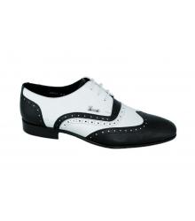 Мужские туфли Gucci (Гуччи) Black/White + Belt (Ремень)