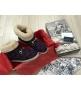 Женские ботинки зимние Gucci (Гуччи) из натуральной овчины войлок с узором GG Bordo