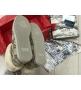 Женские ботинки зимние Gucci (Гуччи) из натуральной овчины войлок с узором GG Beige