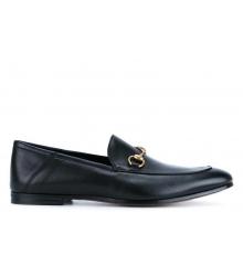 Лоферы мужские Gucci (Гуччи) кожаные Black