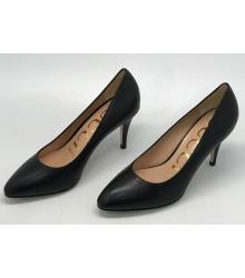 Женские туфли Gucci (Гуччи) кожаные Black