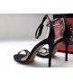 Босоножки женские Gucci (Гуччи) кожаные лаковые Black