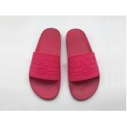 Шлепанцы женские Gucci (Гуччи) летние резиновые Crimson