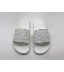 Шлепанцы женские Gucci (Гуччи) летние резиновые White