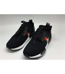 Женские кроссовки Gucci (Гуччи) NMD R1 с пчелой Black