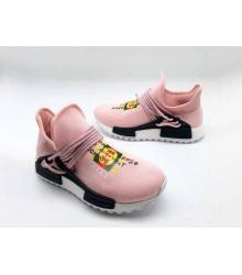 Женские кроссовки Gucci (Гуччи) NMD текстиль с принтом без шнуровки Pink