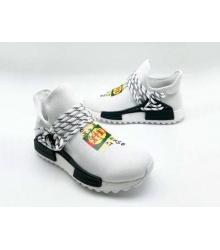 Женские кроссовки Gucci (Гуччи) NMD текстиль с принтом бренда без шнуровки White