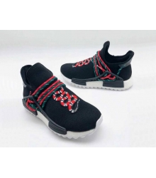 Женские кроссовки Gucci (Гуччи) NMD текстиль с принтом змея без шнуровки Black