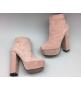 Ботильоны женские Gucci (Гуччи) Pink