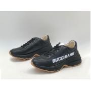 Женские кроссовки Gucci (Гуччи) Rhyton кожаные Black