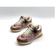 Женские кроссовки Gucci (Гуччи) Ultrapace кожаные Gray/Pink