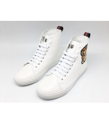 Кеды женские Gucci (Гуччи) с вышивкой тигра High White