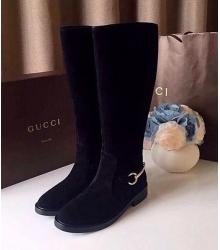 Женские сапоги Gucci  (Гуччи) Black Velvet