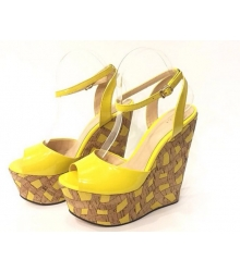 Босоножки женские Gucci (Гуччи) Yellow