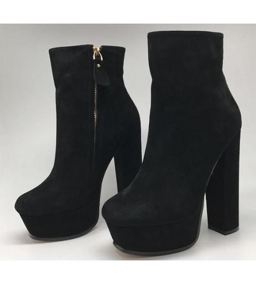 Ботильоны женские Gucci (Гуччи) Замшевые Black