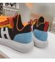 Женские кроссовки Hermes (Гермес) Addict c трикотажной ткани на шнурках Black/Red/Blue