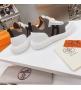 Женские кроссовки Hermes (Гермес) Addict c трикотажной ткани на шнурках Gray