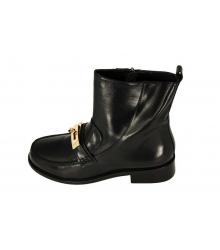 Ботинки женские Hermes (Гермес) High Black
