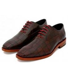 Туфли мужские Hermes (Гермес) кожаные лакированные Brown